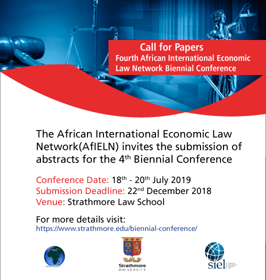 Call for Papers: Fourth African International Economic Law Network Biennial Conference